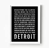 Detroit Michigan Print - Neighborhoods - Subway Sign Poster, Wall Art, Décor, Canvas, Word Map, Gift, Bus Scroll, Typography, Minimal, Custom, Personalized