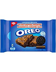 OREO Salted Caramel Brownie Sandwich Cookies, New Limited Edition Cookies, 345 Gram