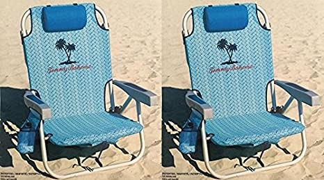 2 Tommy Bahama Cooler Chair with Storage Pouch and Towel Bar