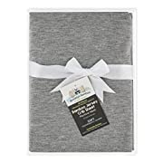 Brooklyn Bamboo   Premium, Unique Baby Sheet   Natural Bamboo Fitted Crib Sheet   Ultra Soft, Organic, Hypoallergenic   Grey