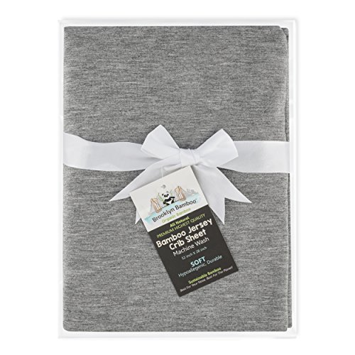 Brooklyn Bamboo | Premium, Unique Baby Sheet | Natural Bamboo Fitted Crib Sheet | Ultra Soft, Organic, Hypoallergenic | - Crib Bamboo Bedding