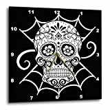 3dRose Day of The Dead. black and White. – Wall Clock, 10 by 10-Inch (dpp_220662_1) For Sale