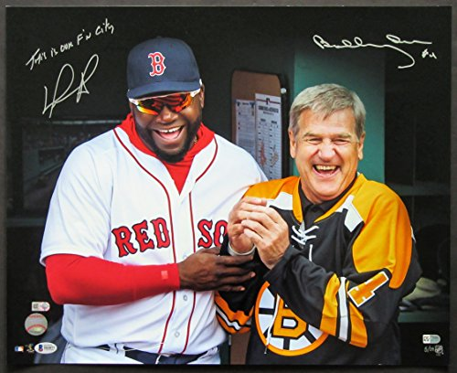 David Ortiz and Bobby Orr Autographed Photograph. Red Sox Opening Day. Private signing. BAS COA