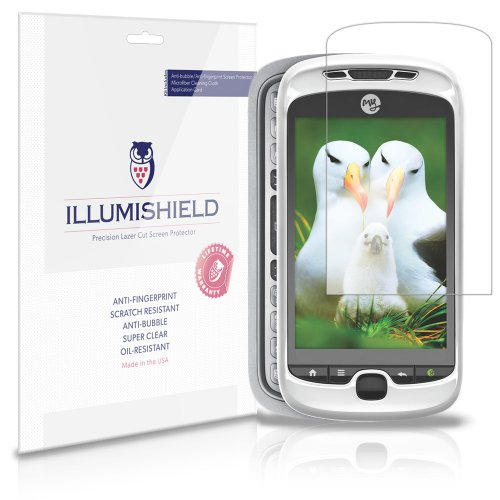 iLLumiShield Screen Protector Compatible with HTC myTouch 3G Slide (2010,T-Mobile)(3-Pack) Clear HD Shield Anti-Bubble and Anti-Fingerprint PET Film