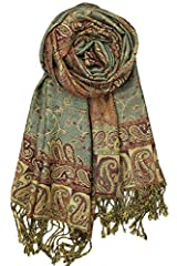 Features simple paisley design with a pattern made from flowers and vines. They are quite exotic looking with their many spicy colors. This timeless pashmina is the best way to spice up an ensemble while staying nice and warm. Unisex, tend to...