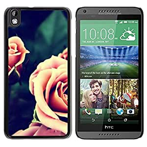 Vintage Pink Roses Closeup Durable High Quality HTC Desire 816-1 Phone Case
