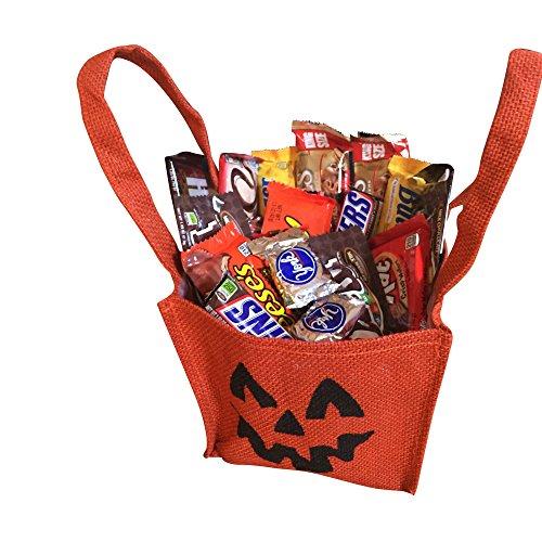(Halloween Gift Basket - Jack O' Lantern Trick or Treat Bag - 2 Full Lbs of)