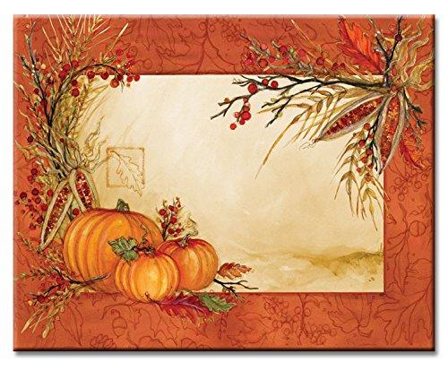 CounterArt Autumn Array Glass Cutting Board, 15 x 12 Inches