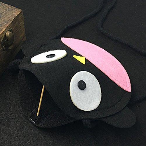 Fablcrew Süße Schwarz Pinguin Kinder tasche Einzelne Schulter Beutel Hängetasche Schultertasche Brieftasche X1