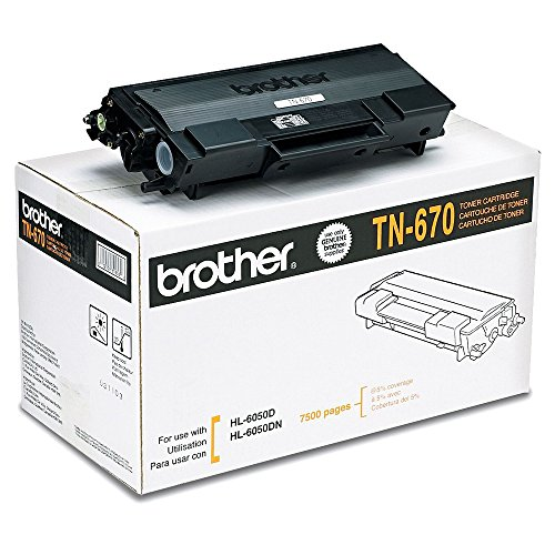 (Brother TN670 Black Original Toner High Yield (7,500 Yield))
