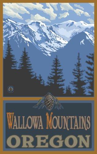 Northwest Art Mall Wallowa Mountains Oregon Snowy Mountain Ridges Unframed Prints by Paul A