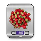 #9: Adoric Food Scale, Digital Kitchen Scale - Multifunction, 1g/0.002lbs to 11lbs capacity, Easy to Clean, Stainless Steel