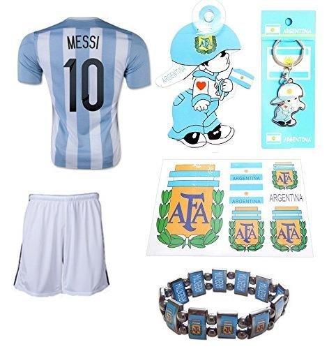 0a32986a4 ARGFC Argentina Home Messi Kids  10 Soccer Kit Jersey and ...