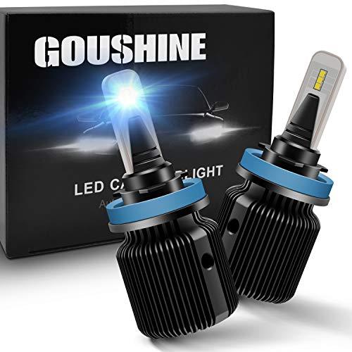 GOUSHINE H11 LED Headlight Bulb H8 H9 LED Conversion Kit 40W 8000LM 6500K White 12x CSP Chips Waterproof Fog Light Bulbs 12V Pack of 2