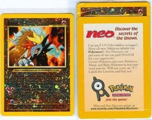 Pokemon Card - Black Star Promo #34 - ENTEI (holo-foil) - Factory Sealed