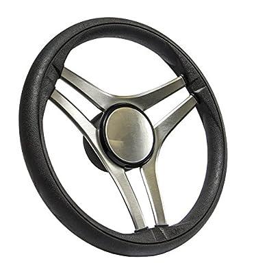 SeaStar Molinara SW60300P Steering Wheel, Molinara 13-1/2 inch, 3 Spoke Equidistant