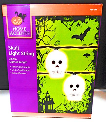 Halloween 10 count Mini Skull Lights Party Decoration Prop Novelty