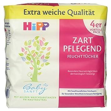 Hipp Babysanft Feuchttücher Zart pflegend, 4er Pack (4 x 56 Tücher) 9589