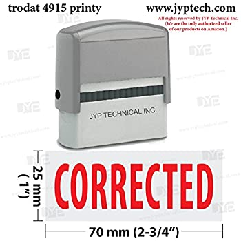 amazon com trodat corrected self inking rubber stamp business