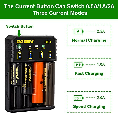 4-Slots Intelligent Universal Battery Charger for 3.7V IMR Li-ion 10440 14500 14650 16340 17670 18500 18650 18700 22650 20700 21700 22700 25500 26650 26700 Batteries