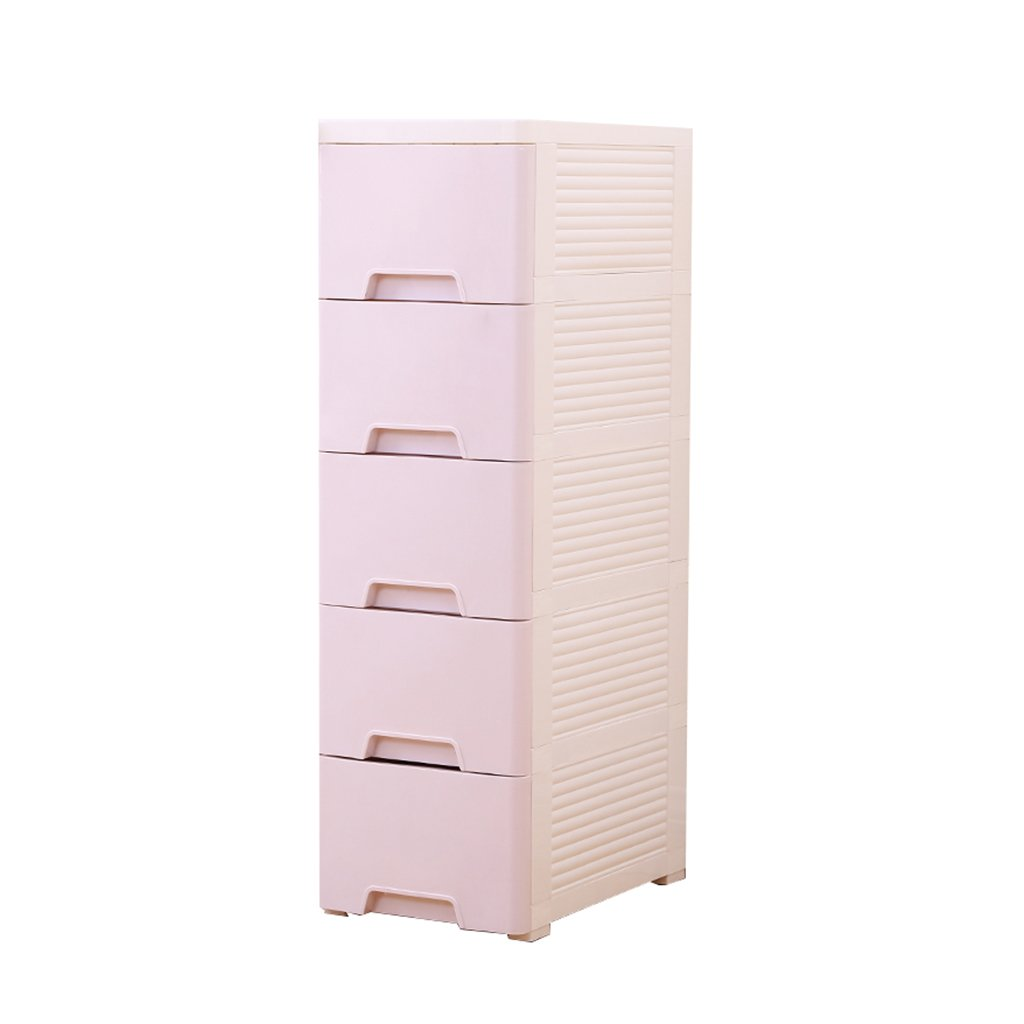 現代的なスタイリッシュなクリーム色の厚い収納ボックス引き出しプラスチックスロットコレクターキャビネット5層のバスルーム衣類仕上げキャビネット収納ラック多目的収納ユニットスロットコレクターキャビネット狭い側の戸棚 ( サイズ さいず : 20cm ) B0796RZ5XN 20cm 20cm