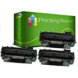 Printing Pleasure 3 Toner Compatibili per HP Laserjet P2030 P2035 P2050 P2055 P2055D P2055DN P2055X Canon MF5880DN LBP6300DN LBP6310DN LBP6650DN LBP6670DN   CE505A 05A CRG 719 3479B002, Colore: Nero