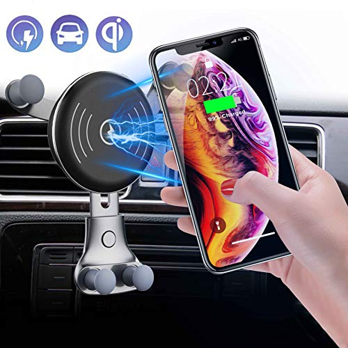 ss Car Charger Air Vent Phone Holder, 10W Compatible for Samsung Galaxy S10/S9/S9+/S8, 7.5W Compatible for iPhone Xs Max/Xs/XR ()