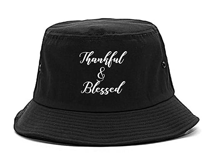 Amazon.com  Thankful And Blessed Bucket Hat Black  Clothing 329ed2ac19a6