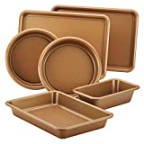 Ayesha Bakeware Baking Pans Set, Copper, 6pc Deal (Small Image)