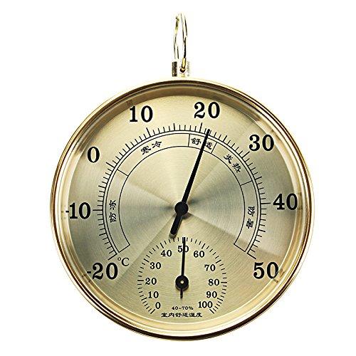 KUNSE C/áscara De Aluminio De Alta Precisi/ón Hogar Interior Exterior Term/ómetro Higr/ómetro Aire Psicr/ómetro