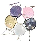 Womens Hologram Laser Shell Pearl Cross-body Chain Shoulder Bags Purse(Gold)