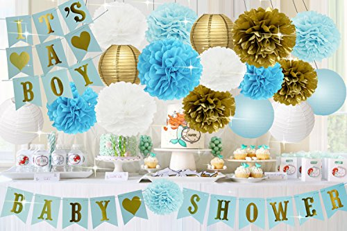 Baby Shower Decorations For Boy Baby Shower Its A Boy Bunting