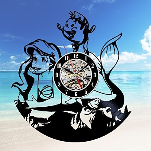 Ariel Gift Art Decor Wall Clock Home Record Vintage Decoration