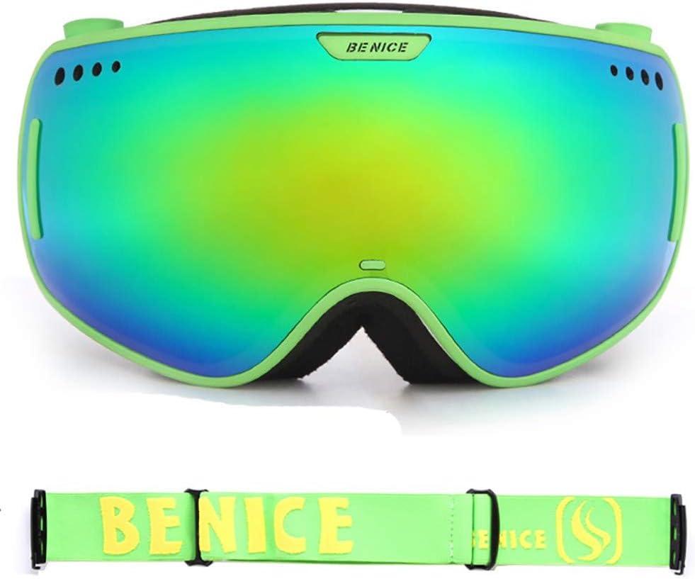 SXC Gafas de Esquí Snowboard Máscara Nieve Espejo Espejo para Hombre Mujer Adultos Juventud Jóvenes Compatible con Casco Anti Niebla 100% Protección UV Gafas de Ventisca