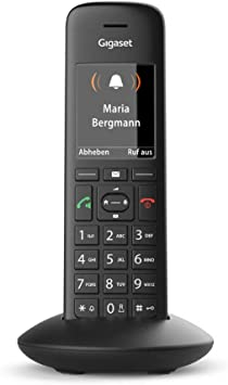 Gigaset C570HX - Teléfono inalámbrico con pantalla a color grande, diseño fino, libreta de direcciones, función de manos libres, teléfono IP (certificado y reacondicionado): Amazon.es: Electrónica