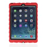 Gumdrop Cases Drop Tech Series Custom/Frame Snap-On Case for iPad Air (iPad 5), Red/Black (CUST-DTPD5-RED_BLK)