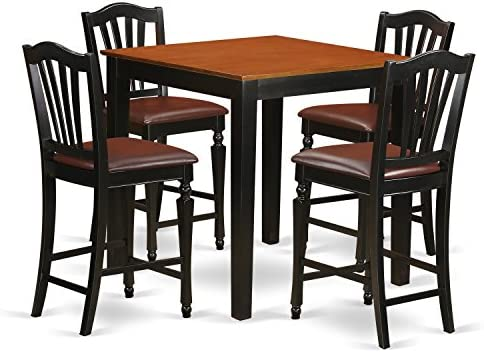 PBCH5-BLK-LC 5 Pc counter height Kitchen table'set