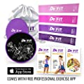 DeFiT Resistance Bands & Exercise Sliders - Best Exercise Bands & Sliders Fitness Set - 12inch Resistance Loops - Workout Bands & Core Sliders + Carry Bag, Exercise eBooks & Nutrition Guide as Bonuses