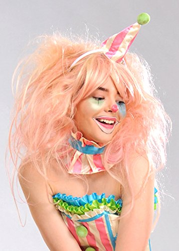 Floss Pink Clown Wig (Deluxe Clown Wig)
