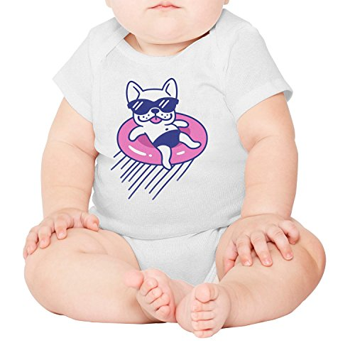 gxxiishow Cute French Bulldog with Sunglasses Personalized Baby Boy Girl Newborn Clothes (Best Mini Labradoodle Breeders)