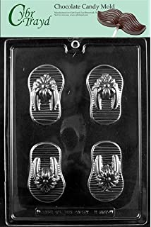 138b338aeb1ffa Cybrtrayd M207 Flip-Flops Chocolate Candy Mold with Exclusive Cybrtrayd  Copyrighted Chocolate Molding Instructions