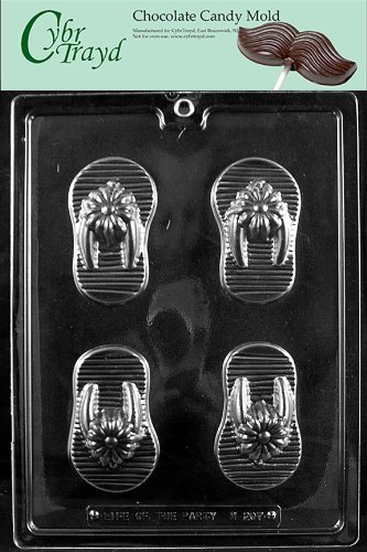e17f363bf2083b Image Unavailable. Image not available for. Color  Cybrtrayd M207 Flip-Flops  Chocolate Candy Mold with Exclusive Cybrtrayd Copyrighted Chocolate Molding  ...