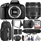 Canon EOS Rebel T7i DSLR Camera 18-55mm Lens w/Advanced Photo Travel Bundle