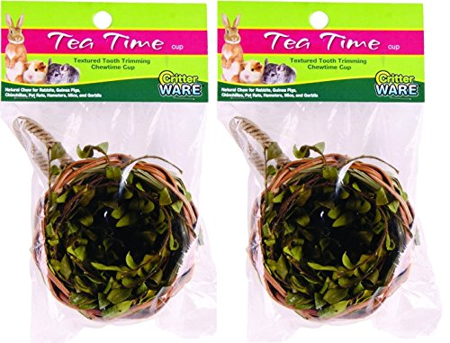 ((2 Pack) Ware Tea Time Cup Chew for Animals, Natural)