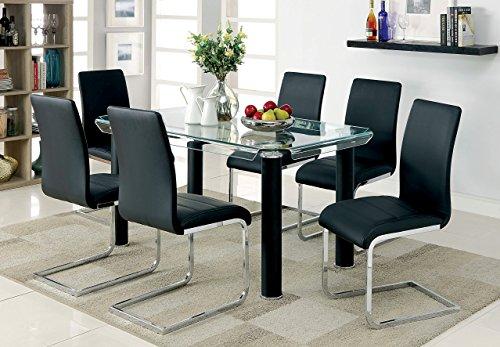 247SHOPATHOME IDF-3361BK-T Rigel Dining Table Black