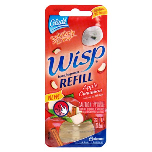 Glade Wisp Home Fragrancer Refill, Apple Cinnamon , 1 refill