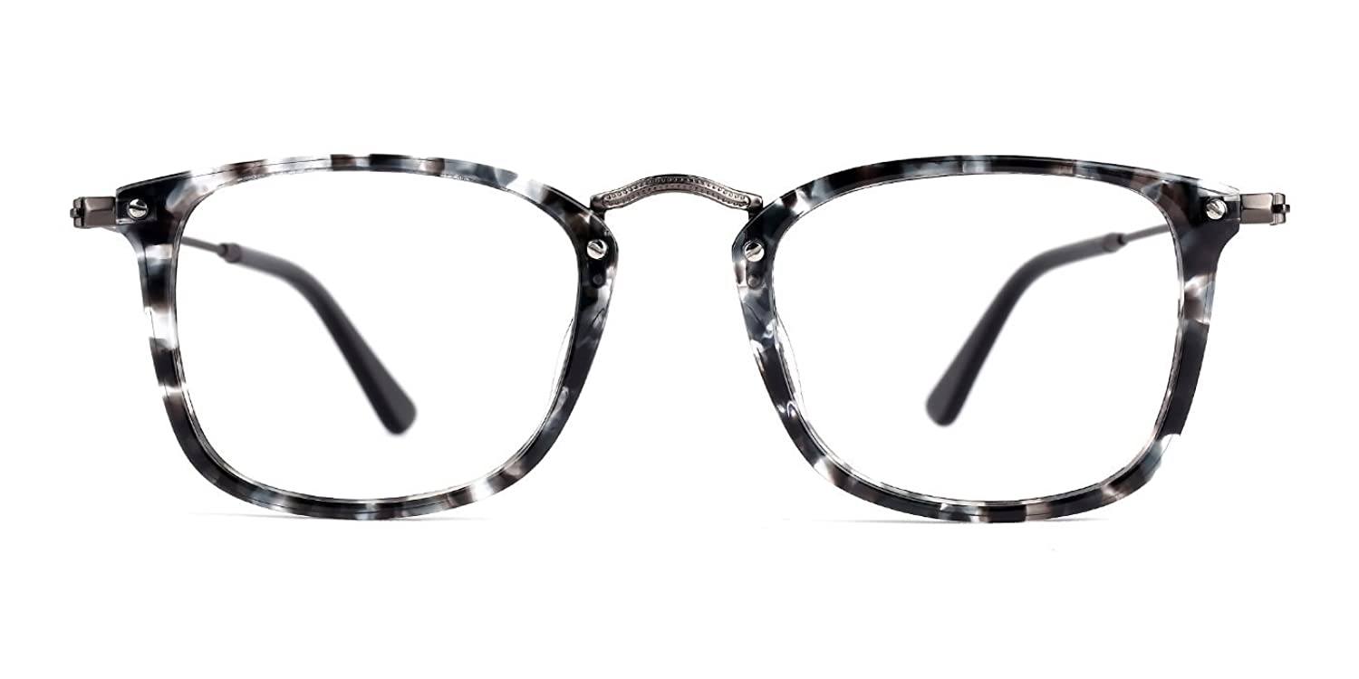 TIJN Retro Era Minimalist Rectangle Optical Glasses Eyewear Frame