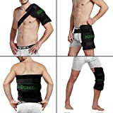 Large Reusable Flexible Ice Pack+ Wrap+Elastic Velcro Straps+2 Round for Hot Cold Therapy-Heat Pad/Cold pack for Relief Muscle Pain,Bruises,Back Pain,Calves,Hips,Knees,Shoulders,Recovery Injury Sprain