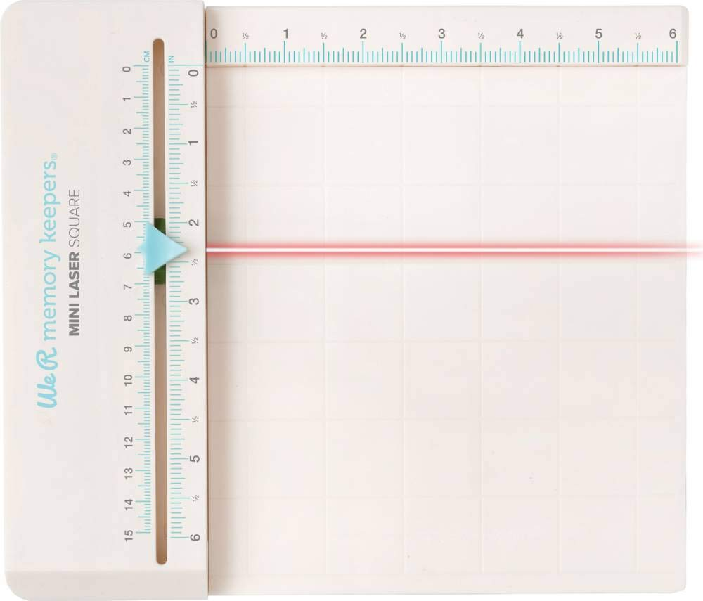 American Crafts We R Memory Keepers 6'' x 6.5'' Mini Laser Square - Crafting Supply - Sliding Guide
