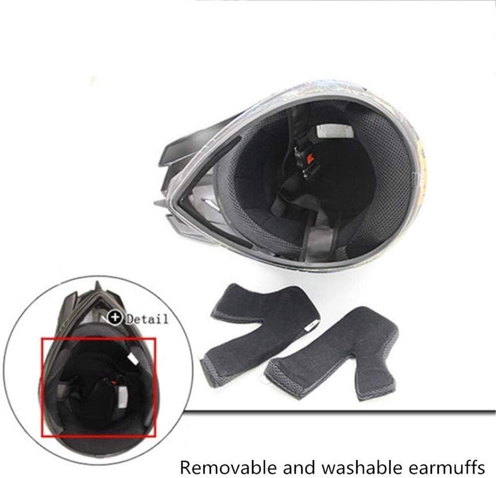 masque de moto SSIC-Full Face Casque de VTT avec lunettes de protection DH Offroad Enduro ATV BMX VTT Downhill Dirt Bikes Quad Moto Cross Country